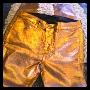 J BRAND (NWOT) Super Skinny Bronzed Metallic Jeans